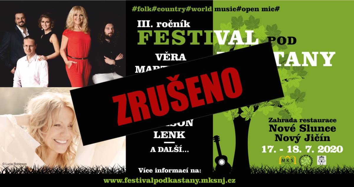 Festival pod kaštany-dvoudenní – ZRUŠENO